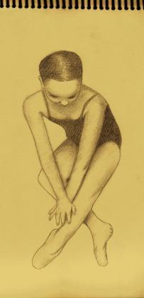 """bailarina"" croquera 21-32cm, grafito HB2"